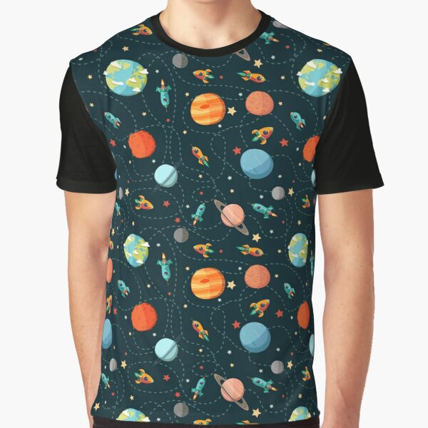 Space Adventure Graphic T-Shirt