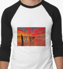 """""""Twilight At The Springs"""" Men's Baseball ¾ T-Shirt"""