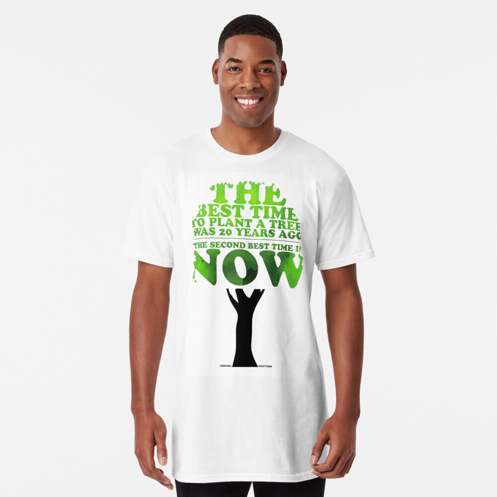 Inspirational Chinese Proverb Long T-Shirt