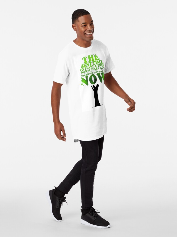 Alternate view of Inspirational Chinese Proverb Long T-Shirt
