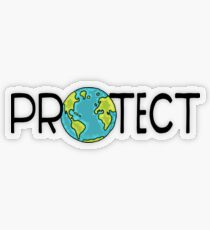 Protect Earth Transparent Sticker