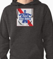 Pabst Blue Robot Pullover Hoodie