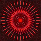 Red Sun Mandala Repeat by WelshPixie