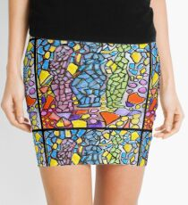 Stained Glass Statues Mini Skirt