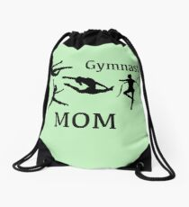 Gymnast Mom With Great Images Drawstring Bag