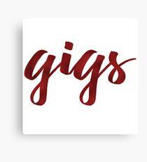 Gigs Canvas Print