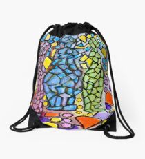 Stained Glass Statues Drawstring Bag
