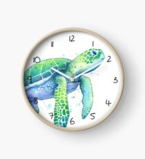 Green Sea Turtle Clock