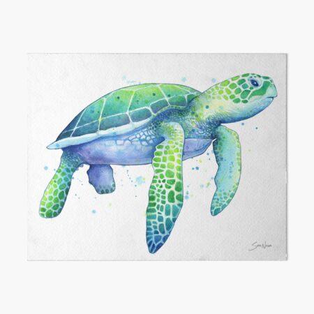 Green Sea Turtle Art Board Print