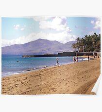 Beach at Puerto del Carmen Poster