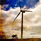 Wind turbine with texture by Elana Bailey