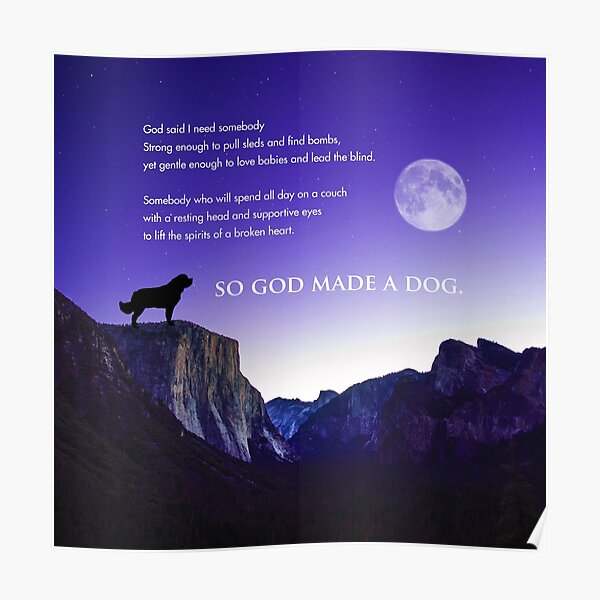 So God Made a Dog Poster