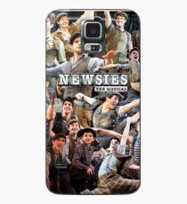 Newies Broadway musikalische Collage Hülle & Klebefolie für Samsung Galaxy