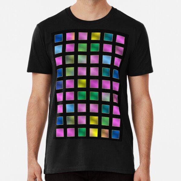 metallic variety - checkered colorful pattern Premium T-Shirt