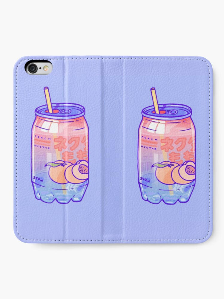 Alternate view of Peach Bubbles iPhone Wallet