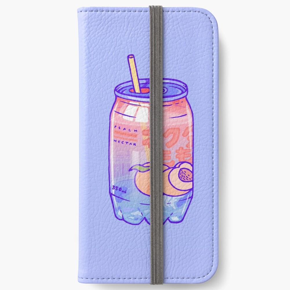 Peach Bubbles iPhone Wallet