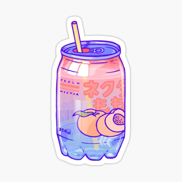 Peach Bubbles Sticker