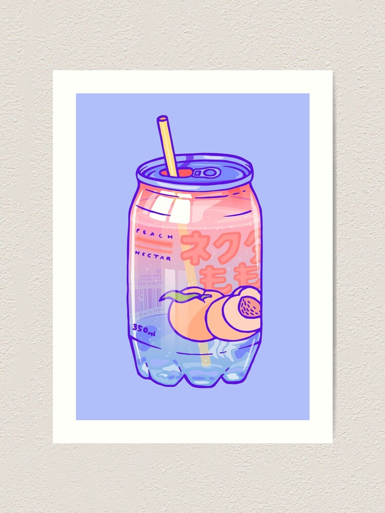 Alternate view of Peach Bubbles Art Print