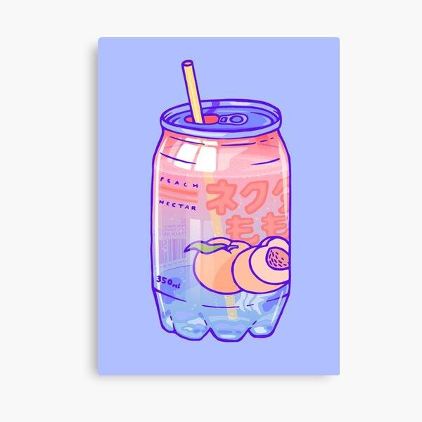 Peach Bubbles Canvas Print