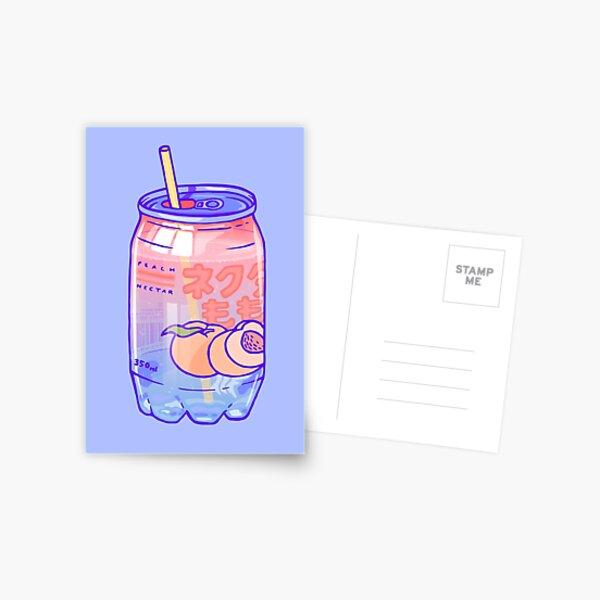 Peach Bubbles Postcard