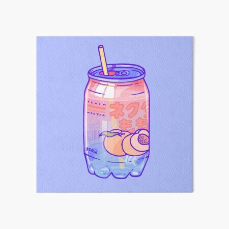 Peach Bubbles Art Board Print