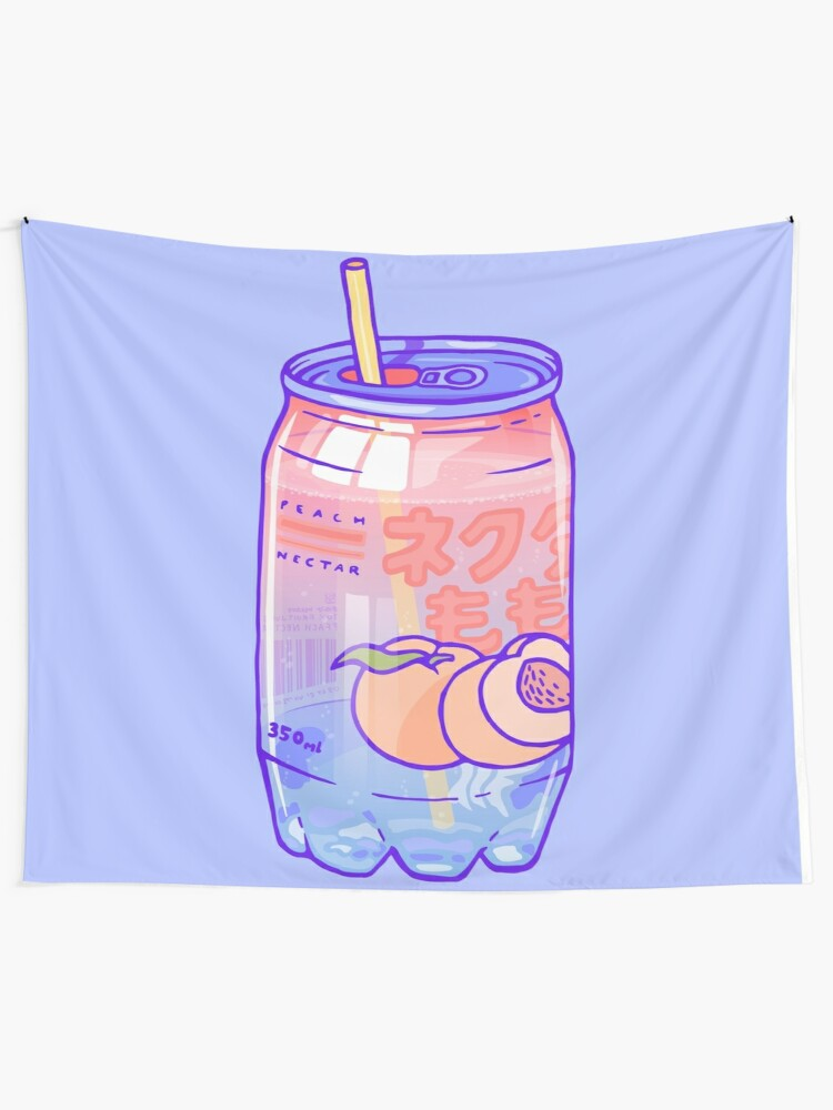 Alternate view of Peach Bubbles Tapestry