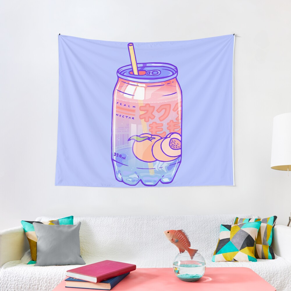 Peach Bubbles Tapestry