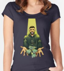 Drake - God's Plan Women's Fitted Scoop T-Shirt