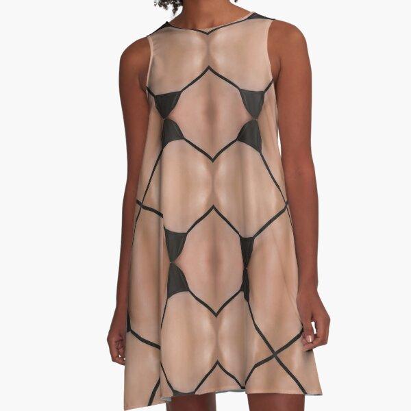 Ornament, ornamentation, form, shape,   mold, uniform, format, decor A-Line Dress