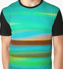 Green Landscape Graphic T-Shirt