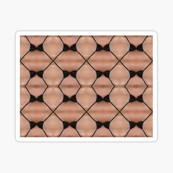 Symmetry, reiteration, repetition, repeat,   recurrence, iteration, relapse, colors Sticker