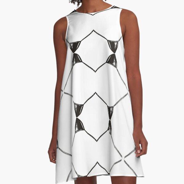Decor, tracery, garniture, symmetry, colouration, marking, surprising, wonderful A-Line Dress