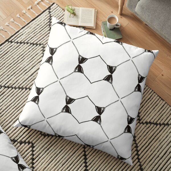 Decor, tracery, garniture, symmetry, colouration, marking, surprising, wonderful Floor Pillow
