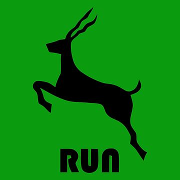 Antelope Run by typographywords
