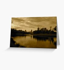 melbourne skyline from the yarra Greeting Card