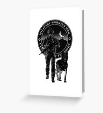 Military working dog - Guardians of the night Greeting Card