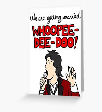 Wedding Singer Engagement Announcement Greeting Card