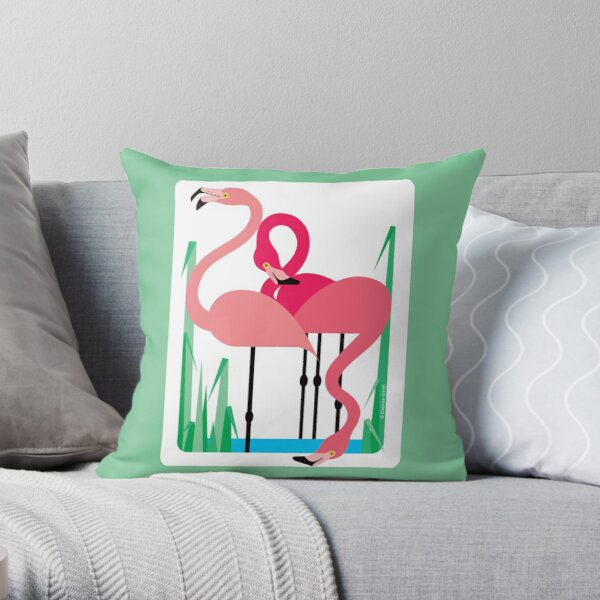 Flamingos #1 Throw Pillow