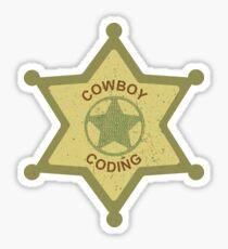 Cowboy Coding Sticker