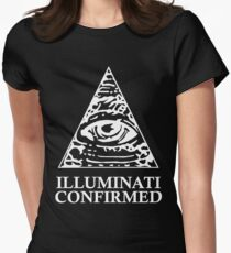 ILLUMINATI CONFIRMED Women's Fitted T-Shirt