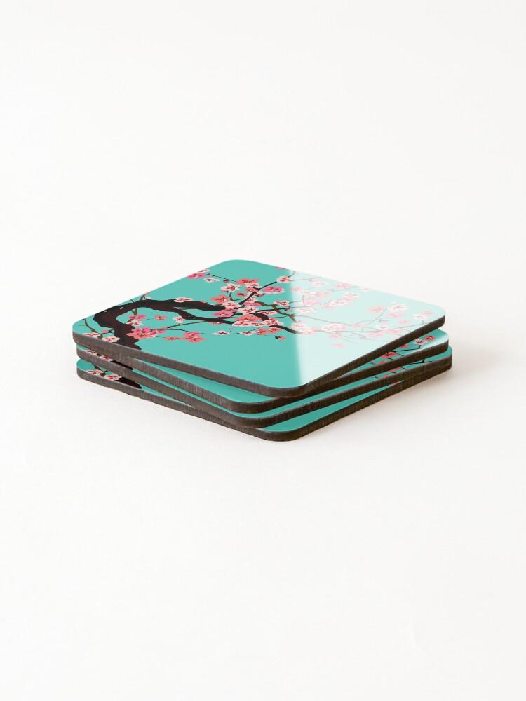 Alternate view of Vaporwave - Arizona Iced Tea (Aesthetic) Coasters (Set of 4)