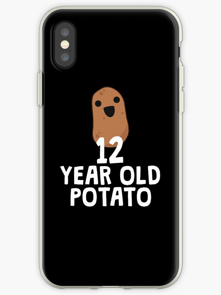 new concept c44a1 89779 '12 Year Old Potato - Funny Potato Shirt, Birthday Gag Gift' iPhone Case by  14th Floor Apparel