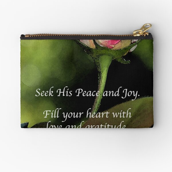 Love and Gratitude Zipper Pouch