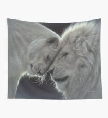 White Lion Love Wall Tapestry