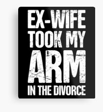 Funny Gift For Amputated Arm Amputee Present Metal Print