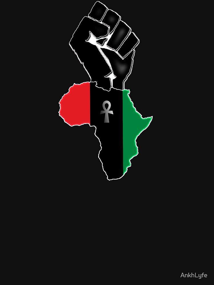 Black fist Africa custom Tee by AnkhLyfe