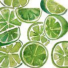 LIMES - watercolor painting by aliciahayesart