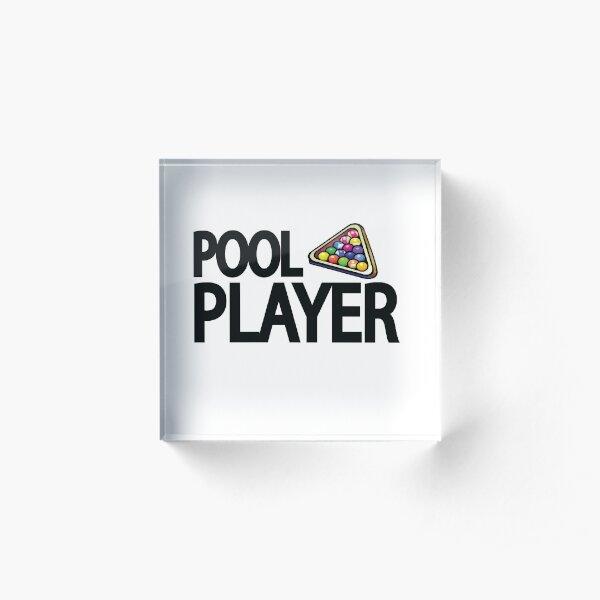 Pool Player Acrylic Block