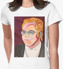 Musician Portrait  Women's Fitted T-Shirt