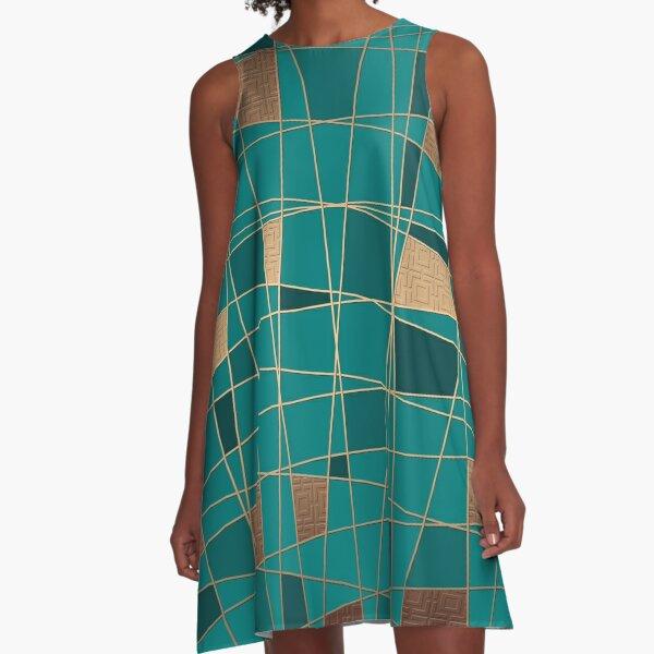 Abstract geometric pattern 11 A-Line Dress